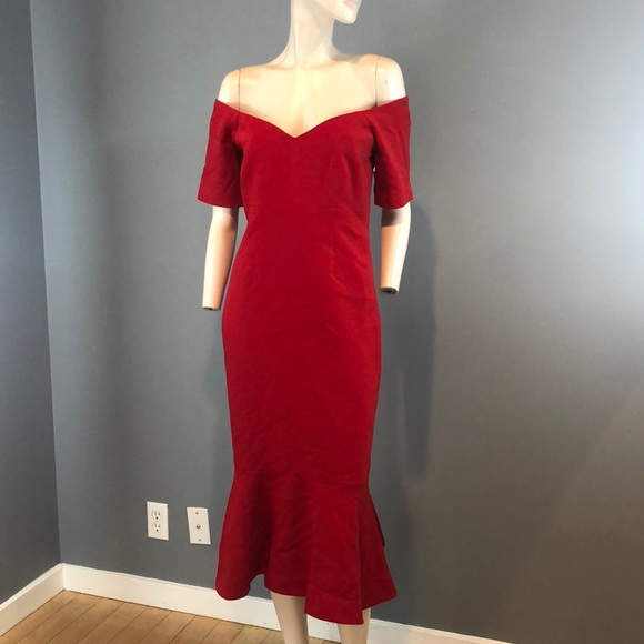 cinq a sept Dresses & Skirts - NWT Cinq a Sept Red Off Shoulder Maxi Dress Sz 12